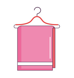 towel hanging in wire hook vector image vector image