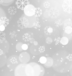 Abstract Lights with Snowflakes on Grey Background vector image