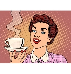 Girl with Cup of coffee vector image