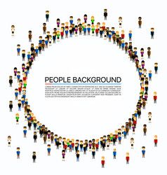 Large group of people in circle vector
