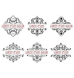 Vintage floral frames dividers and borders vector image vector image