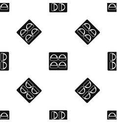Different sushi pattern seamless black vector