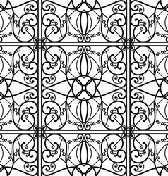 elegant black and white seamless pattern vector image