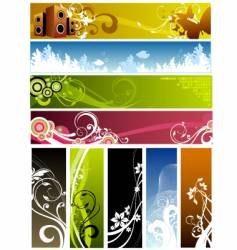 Floral graphic backgrounds vector