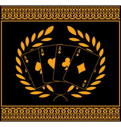 four aces for winners vector image vector image