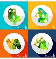 Geometric infographic set in trendy flat style vector image vector image
