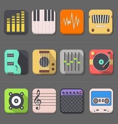 High Quality Audio Icon vector image