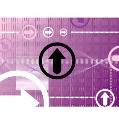 purple arrow vector image vector image