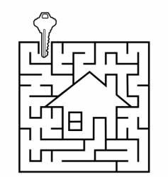 real estate maze vector image vector image