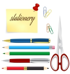 School And Business Stationery vector image