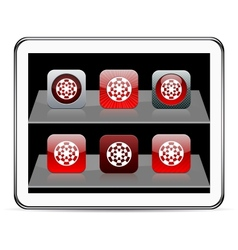 Target red app icons vector image vector image