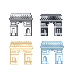 The Arc de Triomphe vector image