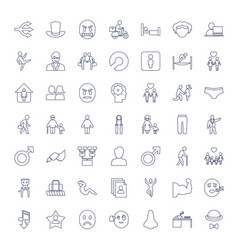 49 man icons vector