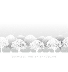 a seamless snowy landscape vector image