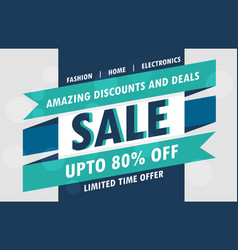 abstract sale poster design template vector image