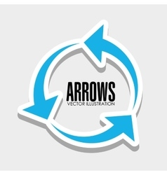 Arrows icons graphic vector image