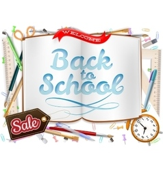 Back to School sale Design EPS 10 vector