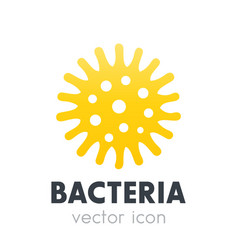 Bacteria microbe icon isolated on white vector