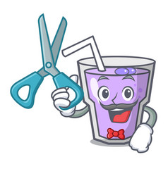 Barber berry smoothie character cartoon vector