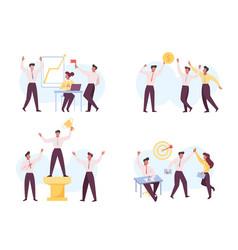business success leadership flat vector image