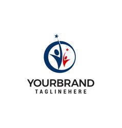 business success people logo template design vector image
