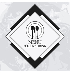catering service menu food icon vector image