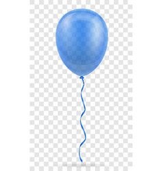 Celebratory blue transparent balloon pumped vector