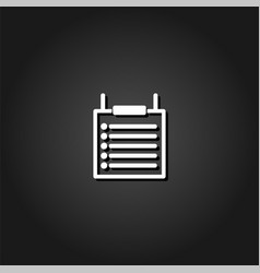 checklist icon flat vector image