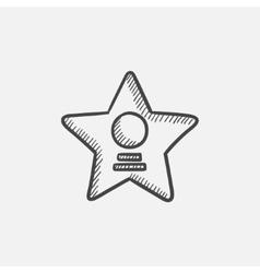 Cinema star sketch icon vector image