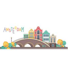 City amsterdam vector