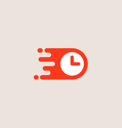 clock logotype time management logo design vector image