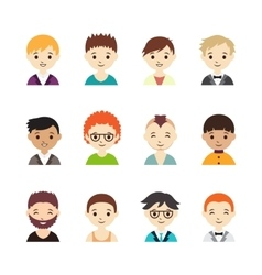 collection different avatars with men vector image