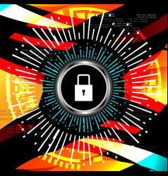 Cyber security padlock icon vector