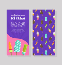 delicious ice cream flyer template buy one get vector image