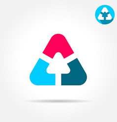 Delta letter sign triangle shape with smoth edges vector image