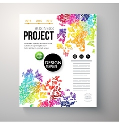 Design template for a Business Project vector image