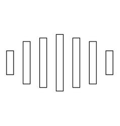 Digital signal black color path icon vector