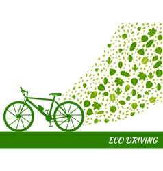 Eco driving concept in green colors vector image