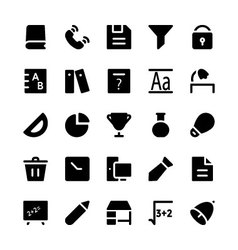 Education Solid Icons 6 vector image