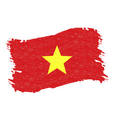 flag of vietnam grunge abstract brush stroke vector image