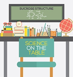 Flat Design Science On The Table vector image