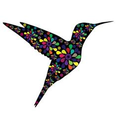 floral hummingbird vector image