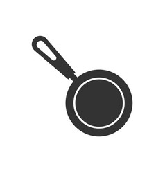 frying pan icon in flat style cooking pan on vector image