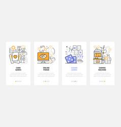gambling - modern line design style web banners vector image