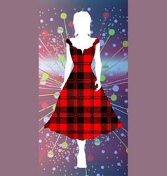 Girl in tartan vector