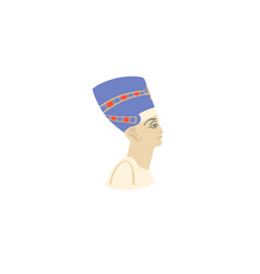 hand drawing icon queen nefertiti portrait vector image
