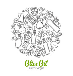 hand drawn sketch olives vector image