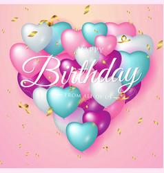 Happy birthday celebration typography design for vector