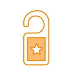 hotel label room icon vector image