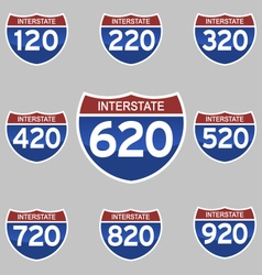 INTERSTATE SIGNS 120-920 vector image
